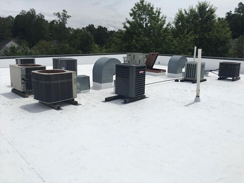 pvc commercial roofing huntersville, cornelius, davidson