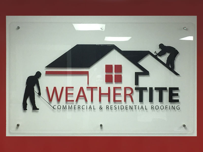 sign logo weather tite roofing